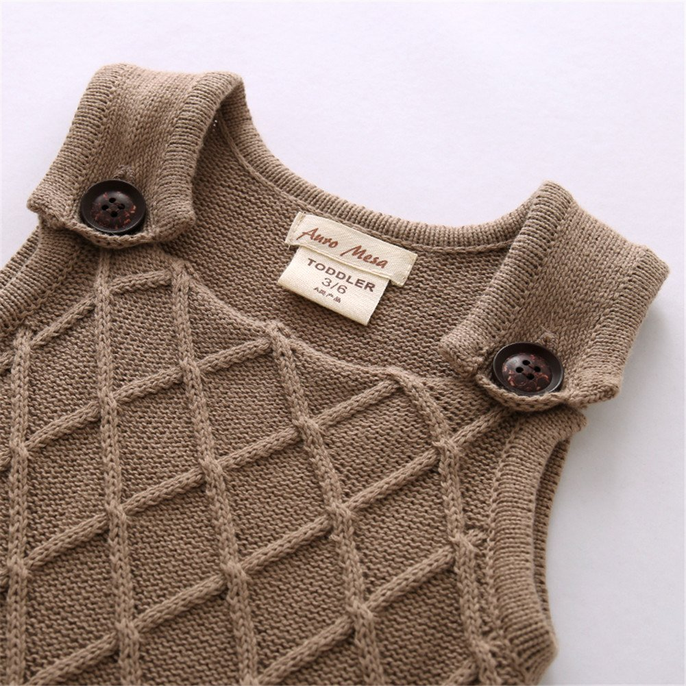 Auro Mesa Newborn Baby Knit Overalls Romper Toddler Little boy Photography Outfits 3 6 9 12 18 Month Boys Clothes