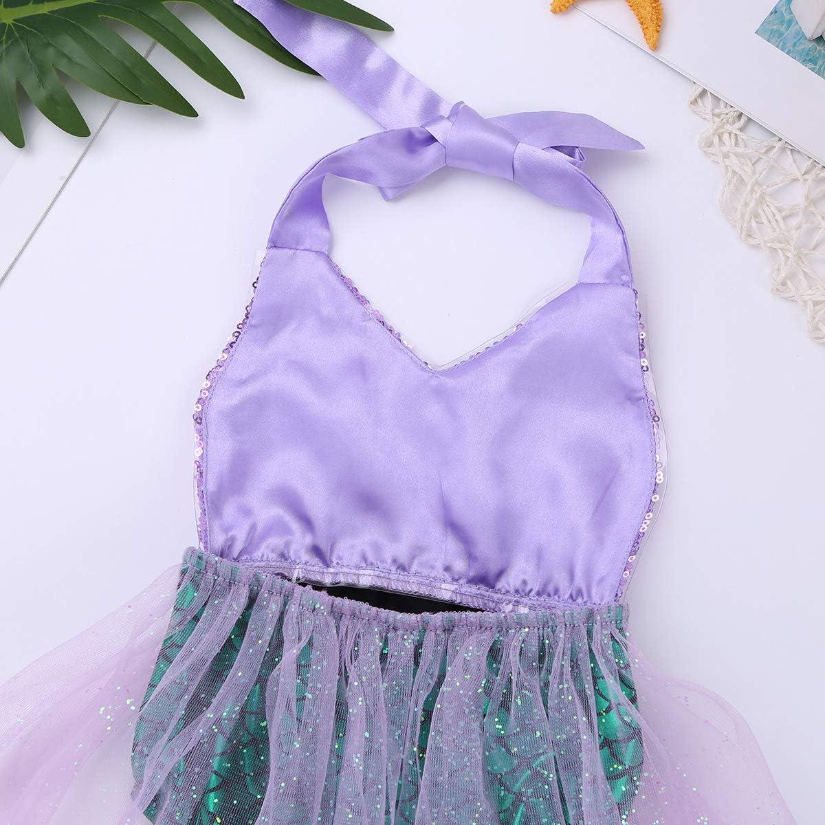 Baby Kinder Mädchen Fischschuppen Badeanzug Pailletten Fisch-Skala Schwimmanzug