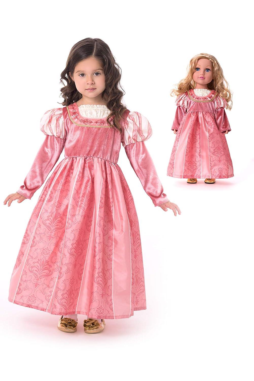 Little Adventures Coral Renaissance Princess Dress Up Costume /& Matching Doll Princess Dress X-Large Age 7-9