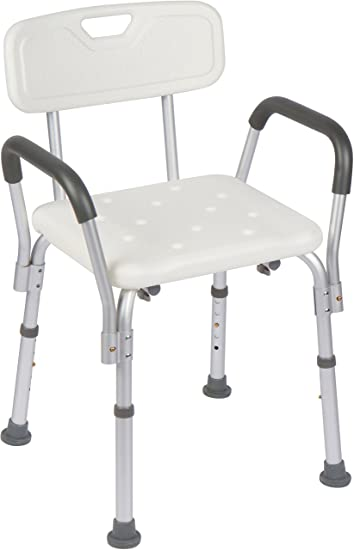 Amazon.com: Casiva Premium Shower Chair with Arms - Strong, Secure ...