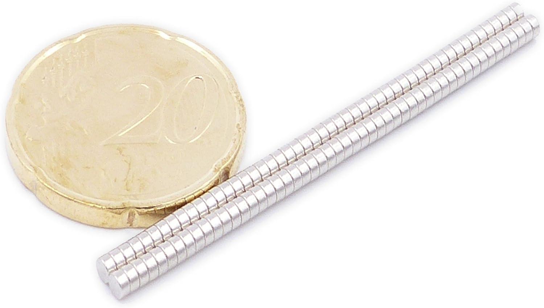Artisanat Brudazon Aimant de Puissance pour mod/élisme 50 Mini Aimants Disques 8x2mm Tableau Blanc Photo Disque Extra Forte Aimants en n/éodyme Ultra Fortes N52 Niveau Le Plus Forte