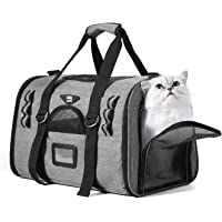 NOBLE DUCK Hundebox Faltbar Katzenbox Transportbox Auto Fluggesellschaft Genehmigt Transporttasche für Haustiere mit Zwei Vlies-Matten
