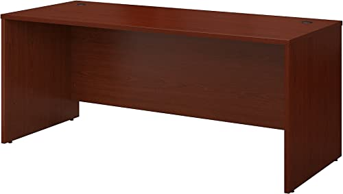 Bush Business Furniture Series C 72W x 30D Office Desk in Mahogany