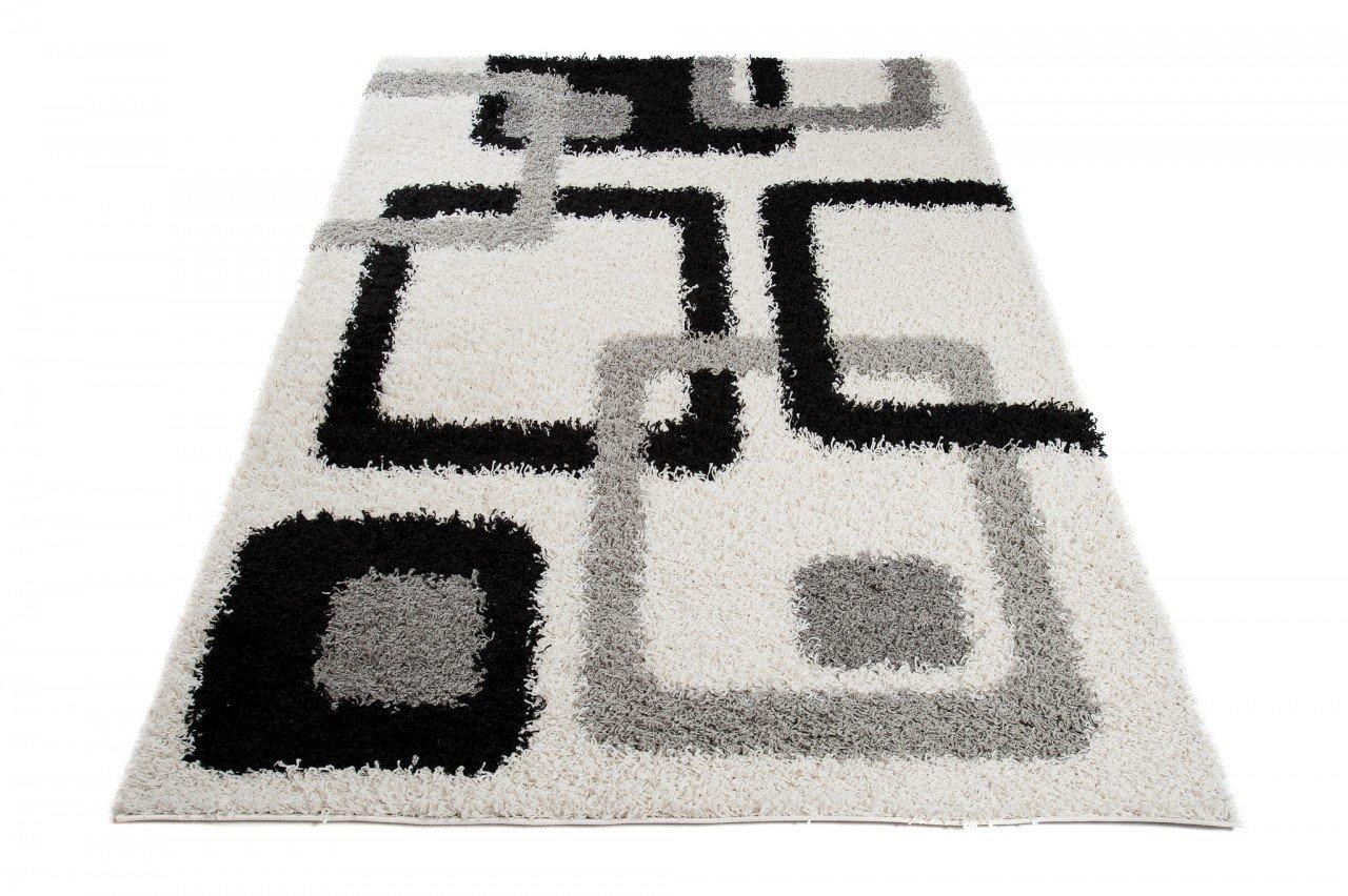 Tapiso scandinavia tappeto shaggy a pelo lungo moderno design