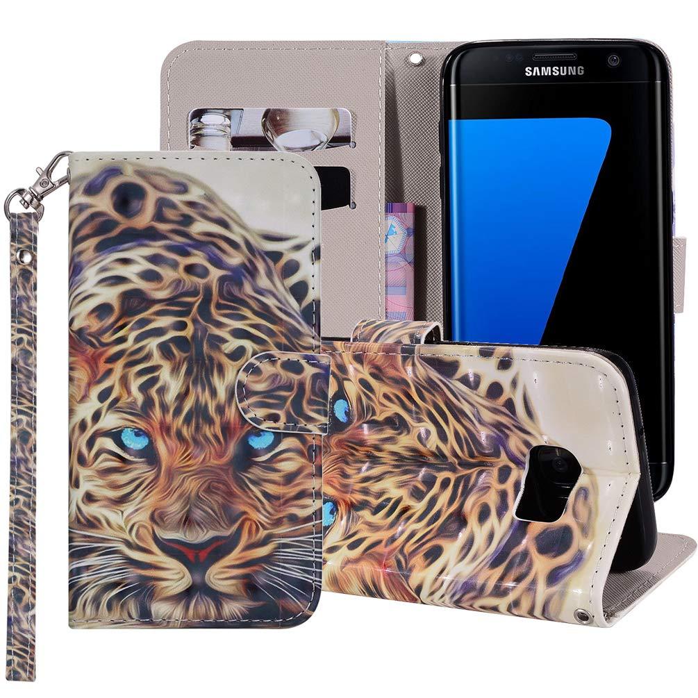 Coque Samsung Galaxy S7 Housse Portefeuille Beaulife. 3D Peint Flip Coque en Cuir PU Antichoc Fonction de Support Coque de Protection Etui Coque pour Samsung Galaxy S7, Chien