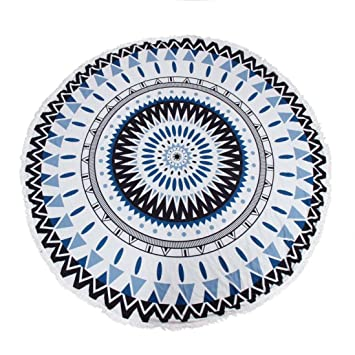 Acheter Serviette De Plage.Internet Hippie Ronde Tapisserie Ronde Mandala Plage Serviette Yoga Mat Boheme Serviette De Plage Noir Bleu