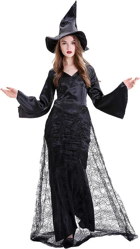 XINSH Disfraz Halloween Bruja Mujer Costume Cosplay Adulto para ...