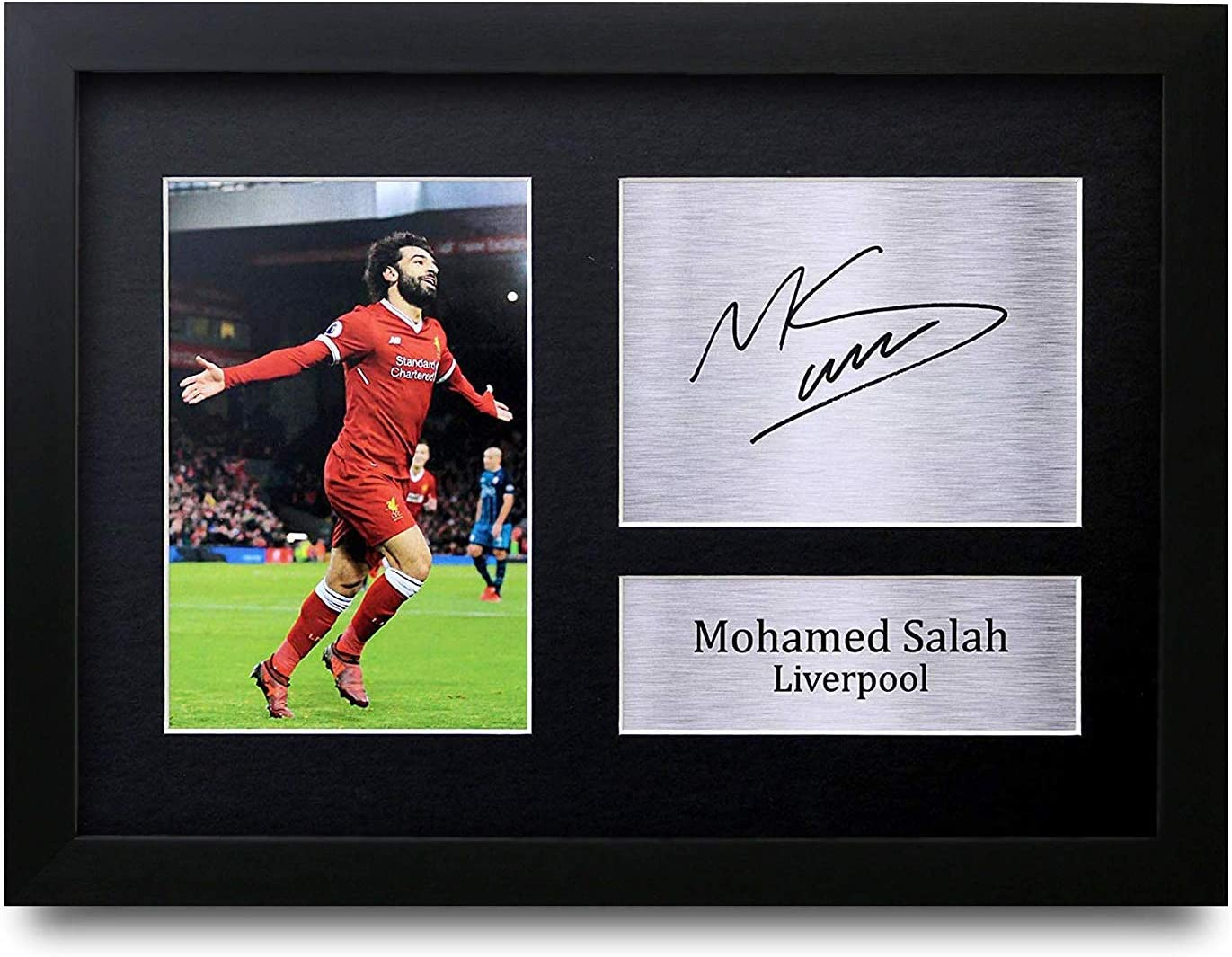 HWC Trading A3 FR Mohamed Mo Salah Liverpool Printed Signed Autograph Picture for Fans and Supporters