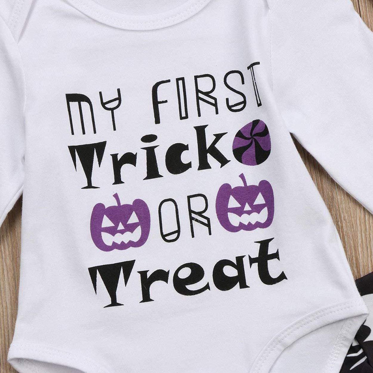Headband My 1st Halloween and My First Trick Treat Newborn Toddler Baby Girls Halloween Romper Jumpsuit Bodysuit Pants Hat Outfits