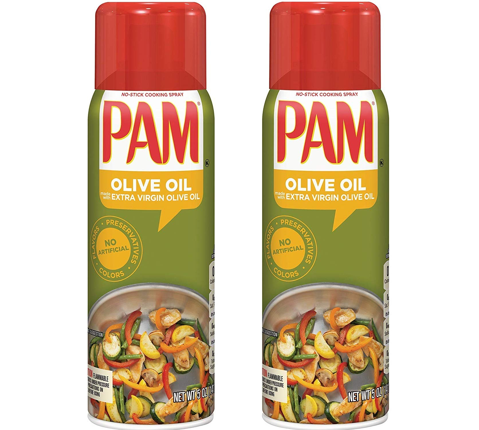 PAM Olive Oil Cooking Spray, 5 Oz (2 Pack) by PAM