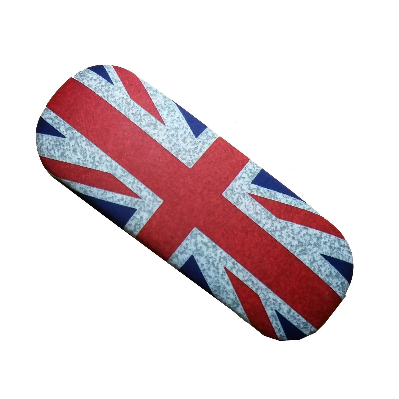 Distressed - Custodia per occhiali da vista con bandiera Union Jack, con panno per pulizia molto morbido, souvenir di Londra, GB e Regno Unito, un ricordo indimenticabile, porta occhiali Lamberts