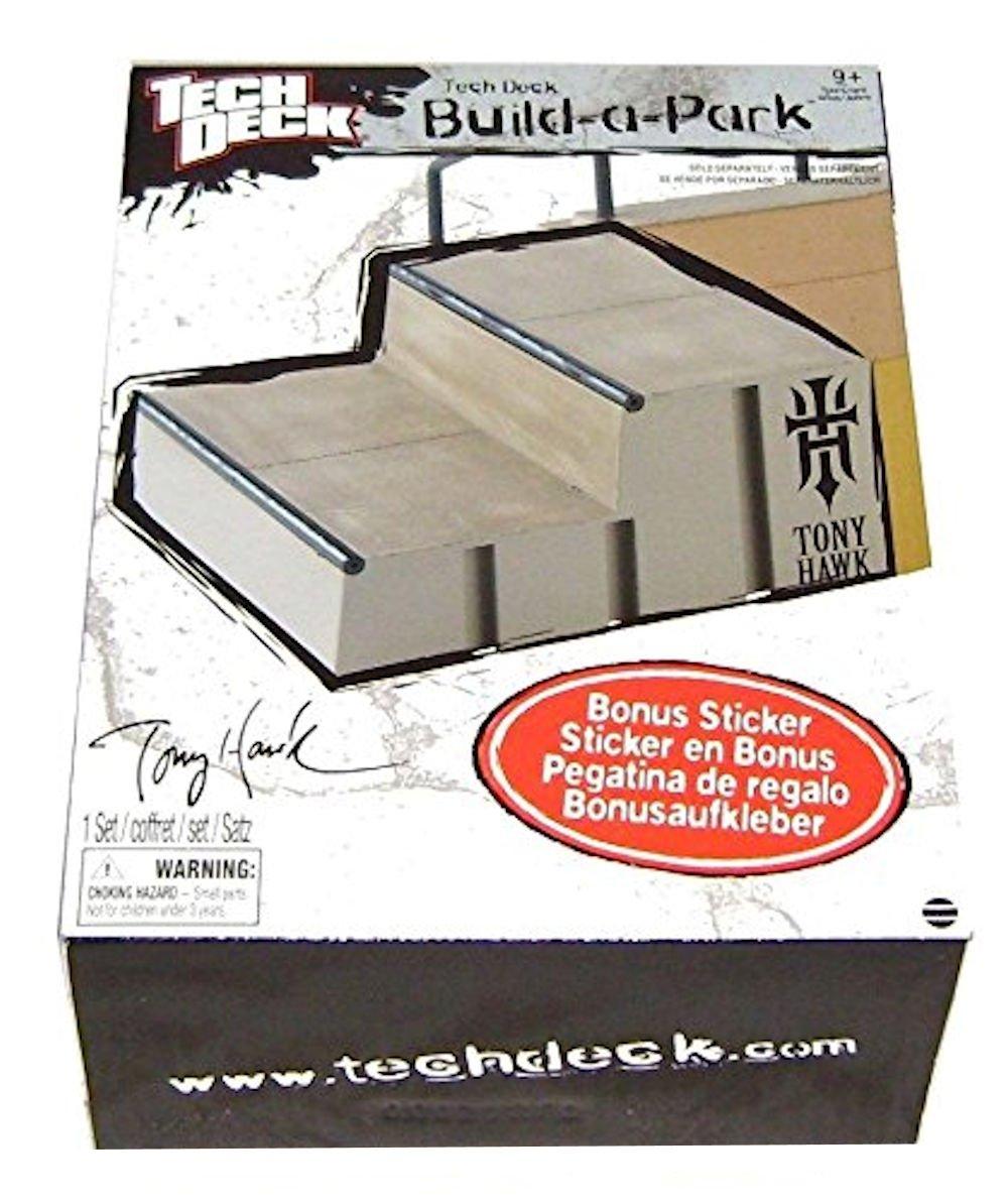 Tech Deck Tony Hawk Build a Park - 2 Step Gray Stone