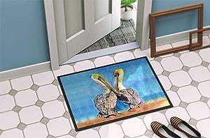 Caroline's Treasures 8539-MAT Pelican Indoor or Outdoor Mat 18x27 8539 Doormat, 18H X 27W, Multicolor