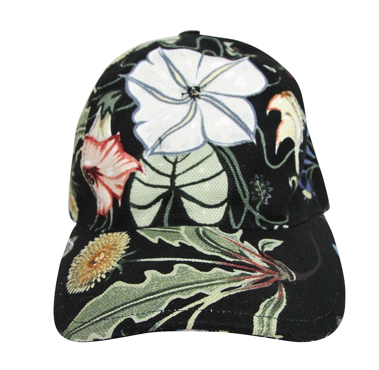0161208d4d7 Amazon.com  Gucci Unisex Flora Knight Black Cotton Linen Baseball Hat  372689 1000  Clothing