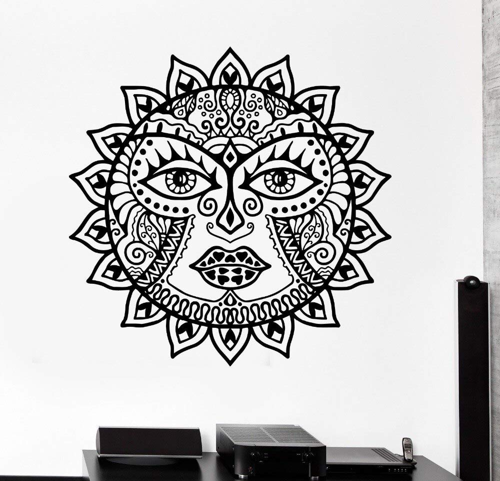 Classic Sun Flowers Mandala Tatuajes de Pared Scorpion Ornament ...