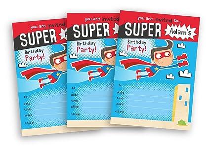 20 invitaciones para fiesta de cumpleaños infantil, diseño ...