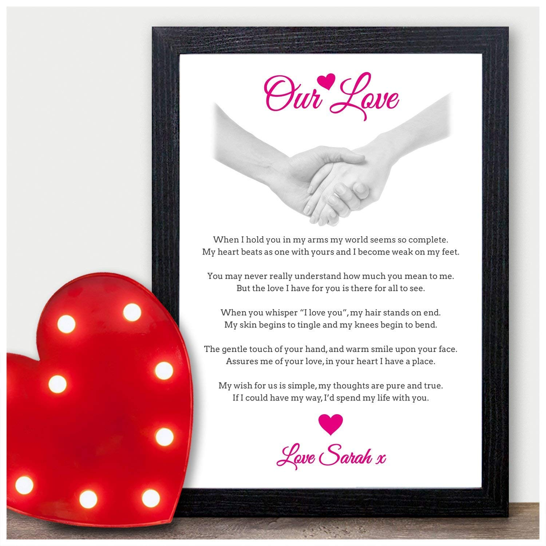 Personalised Birthday Gifts for Couple Wife Girlfriend Boyfriend Husband Men