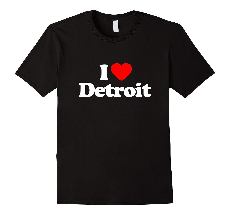 I Love Heart Detroit US City Funny T-Shirt-CD