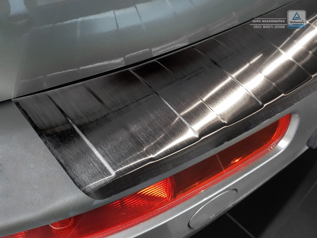 ZIC Motorsports Graphite Black Stainless Steel Rear Bumper Protector Guard fits 2016-2017 Mini Cooper Clubman R54