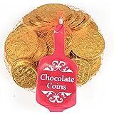 Grande rete di monete d'oro di cioccolato