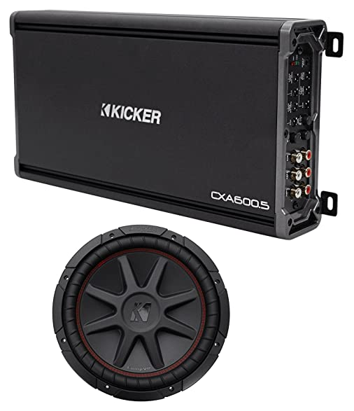 Kicker 43CXA6005 CXA600.5 600w RMS 5-Channel Car Amplifier Amp+12""
