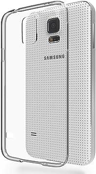 REY Funda Carcasa Gel Transparente para Samsung Galaxy S5 Ultra Fina 0,33mm, Silicona TPU de Alta Resistencia y Flexibilidad: Amazon.es: Electrónica