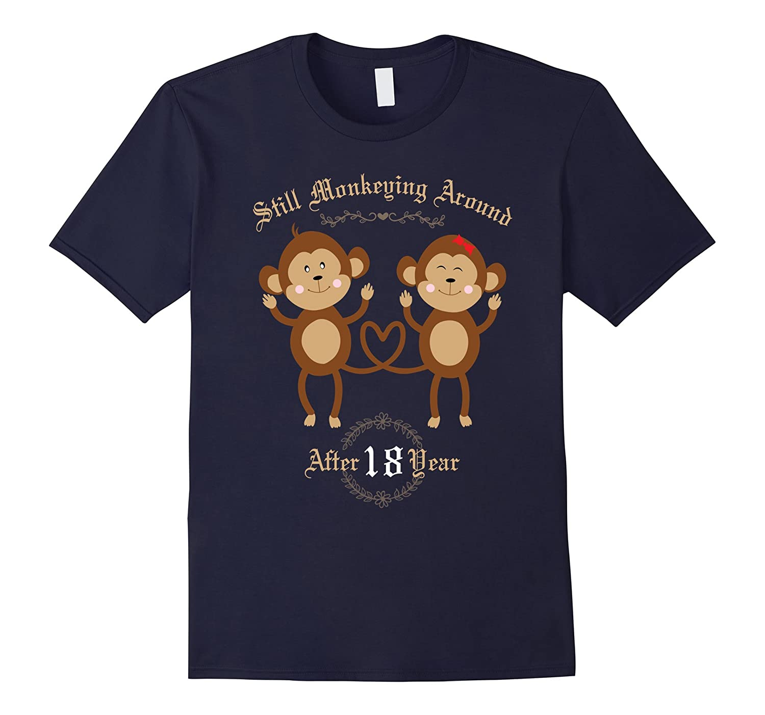 18th Wedding Anniversary T-Shirt - 18 Years Vintage Gift-Vaci