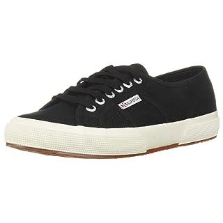 Superga 2750 Cotu Classic Sneaker, Black/White, 39.5 M EU (8.5 US)