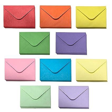 Sobres para tarjetas de regalo - 100 sobres pequeños, sobres ...