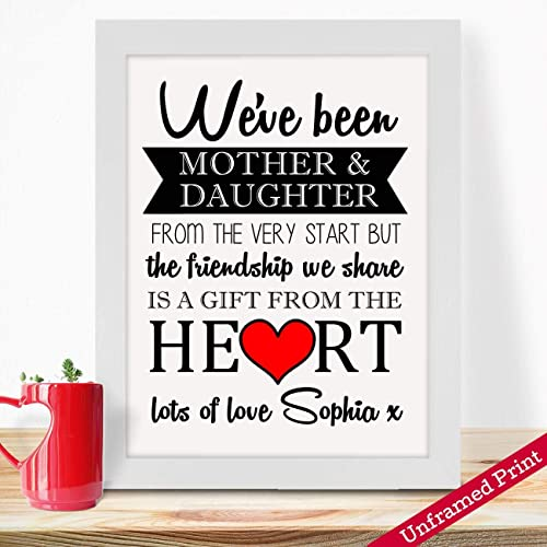 Personalised Gifts For Mummy Mums Moms Grandma Nana Nanny Mother In Law Mothers Day Birthday Christmas Anniversary From Daughter Son Baby Kids Children Long