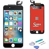 SANKA iPhone 6s plus フロントパネル ガラス デジタイザ (タッチパネル) 及び 液晶LCD 一体型セット 交換用 部品 修理工具付き (ブラック)