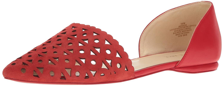 Nine West Women's Soto Suede Pointed Toe Flat B01LYGYY4K 9.5 B(M) US|Dark Red