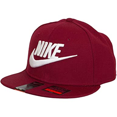 83e8044a54eec Nike Graphic Futura True 2 Men s Snapback Hat Cap Maroon White 584169-674 (