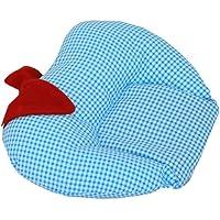 Sharma Clothing Mustard Seeds Rai Cotton Pillow - Apple Shape, Sky Blue