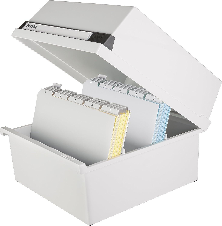 Han 954-11 - Caja para archivar fichas (capacidad para 1300 fichas ...