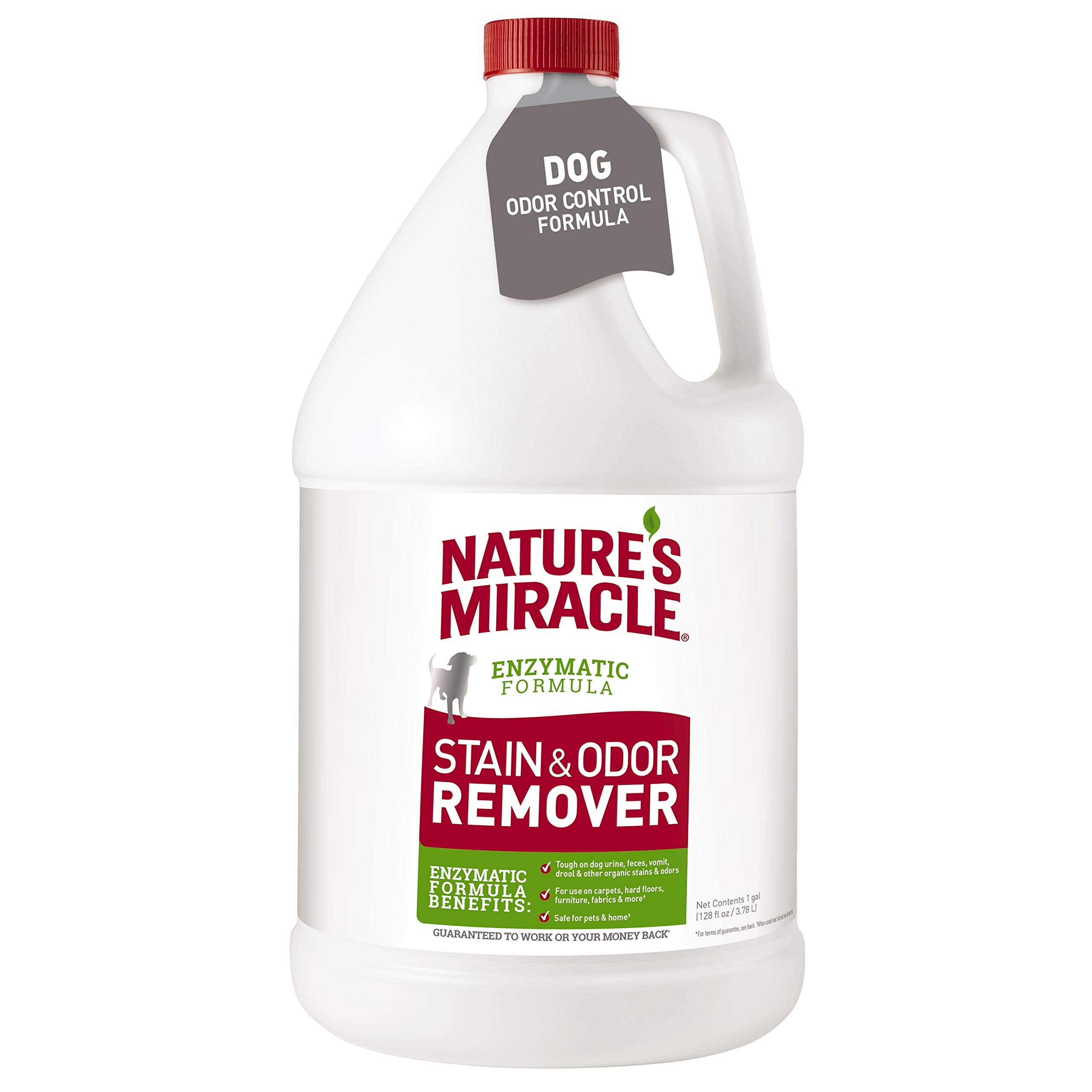Nature's Miracle Stain and Odor Remover, Nature's Enzymatic Formula with Improved Odor Control, 1 Gallon by Nature's Miracle (Image #1)