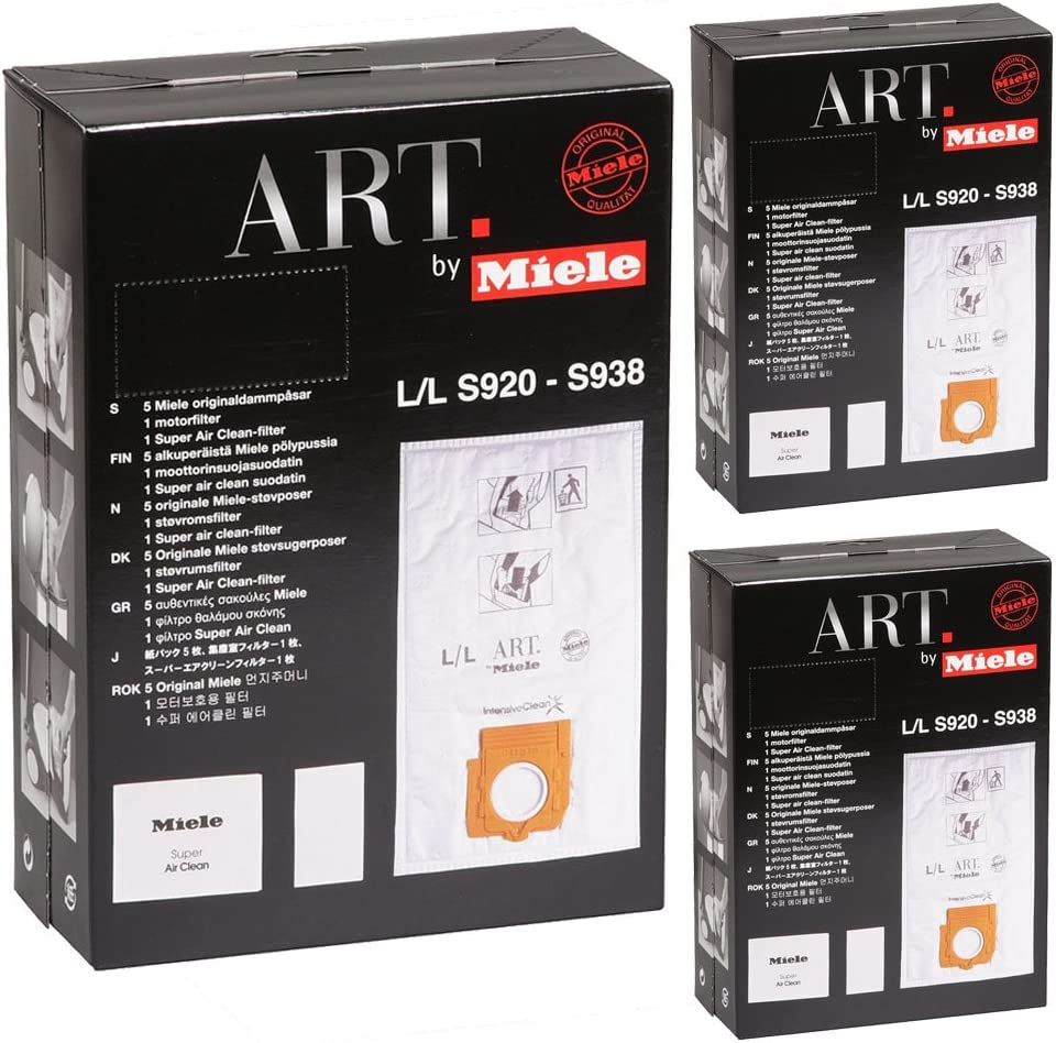 Miele Genuine S926 Type LL Art Vacuum Cleaner Bags & Filter