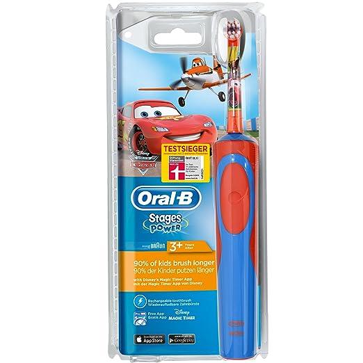 ORAL-B Stages - Cepillo de dientes infantil eléctrico a pilas, con temporizador, diseño de Cars: Amazon.es: Salud y cuidado personal