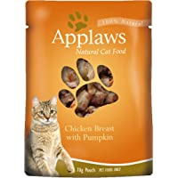 Applaws Chicken and Pumpkin Cat Broth Pouch 70g, 16 Pouch, One Size