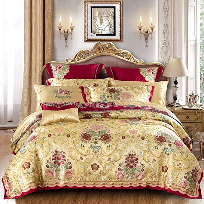 4 PILLOWCASES IN DOUBLE /& KING SIZE FITTED SHEET LUXURY SATIN  6 Pc DUVET SET