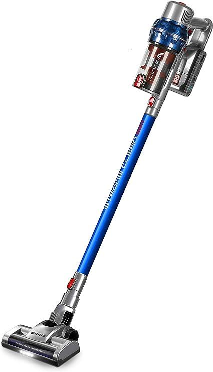ROBUSTA - Aspirador escoba inalámbrico multifunción 7 en 1 – STRONGCLEAN S20 Expert Floor Motor Digital 380 W – Dos baterías de litio 25,9 V – Azul: Amazon.es: Hogar