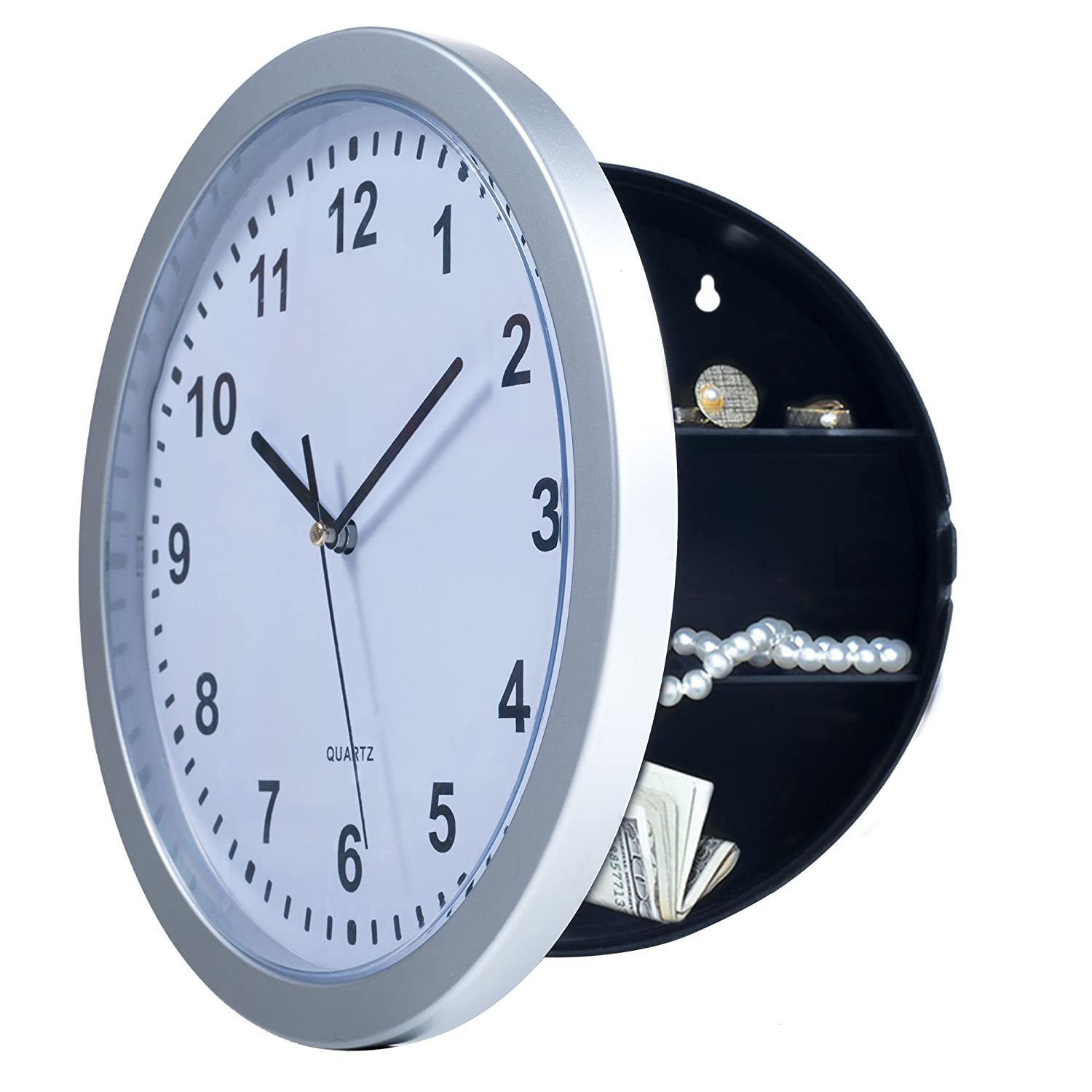 Stalwart 82 5894 wall clock with hidden safe 10 amazon amipublicfo Images