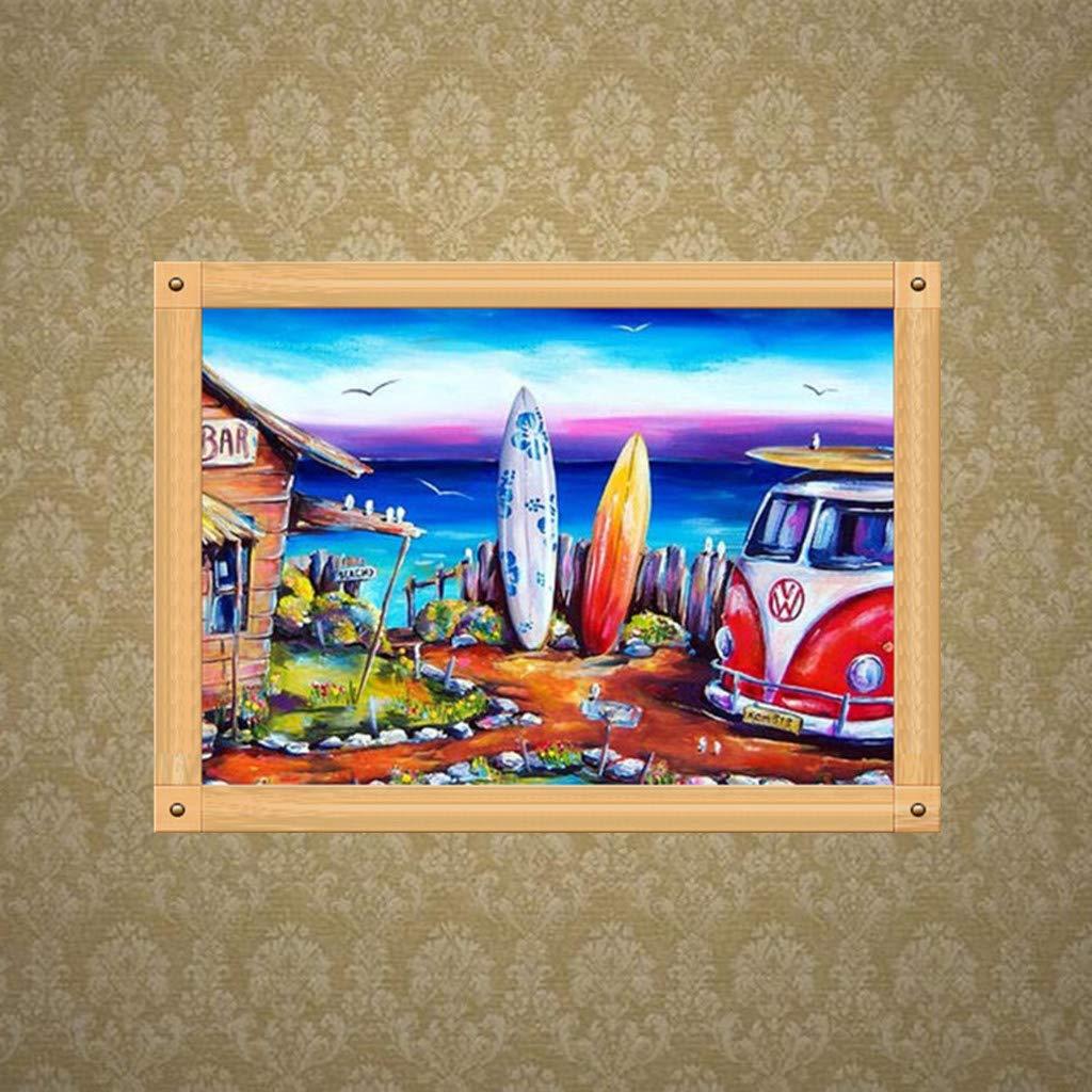 Tiere DIY Crystal Strass Stickerei Painting Diamond Painting Set Dekoration f/ür Home Wall D/écor 30cmx40cm Voller Bohrer Xurgm Auto 5D Diamant Painting
