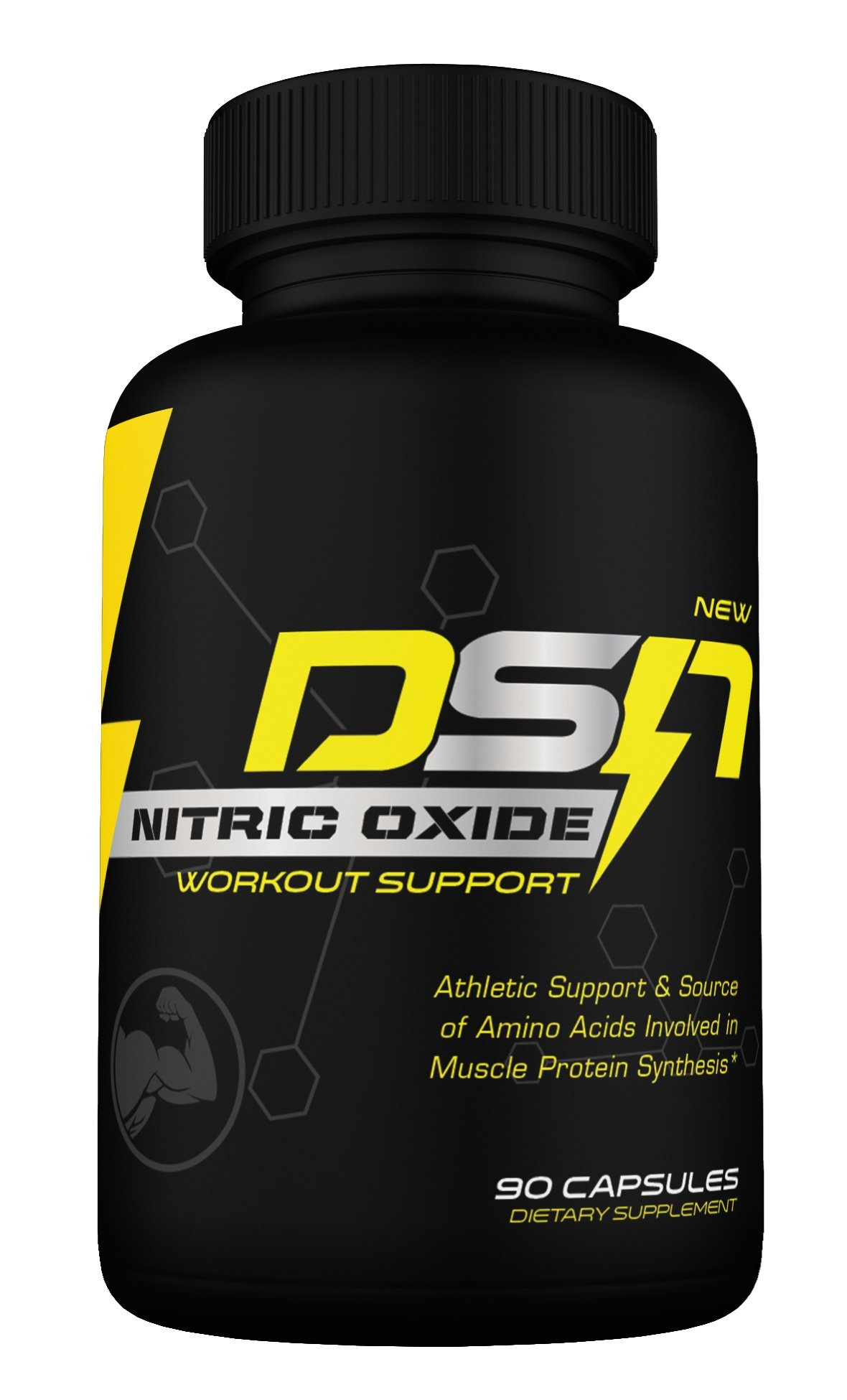 DSN Nitric Oxide, Dyna Storm Nutrition Nitric Oxide Workout Support capsules, L-Arginine L-Citrulline & vitamin blend, 90 capsules (30 day supply)