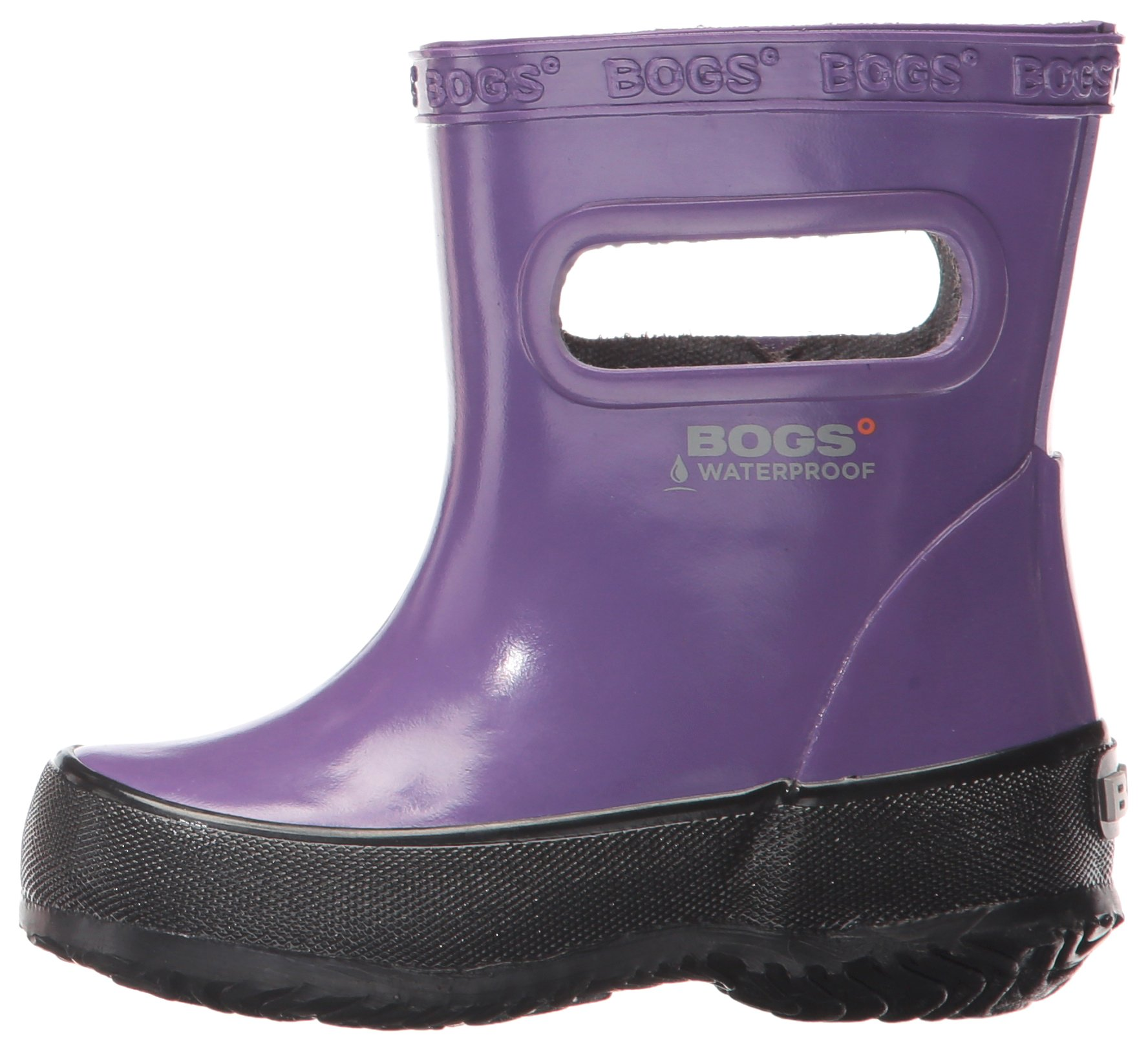 6feb6186e Bogs Kids' Skipper Waterproof Rubber Rain Boot for Boys and Girls,Solid  Purple,5 M US Toddler - 72148K-542-542-PRPL-5 M US Big Kid < Boots <  Clothing, Shoes ...