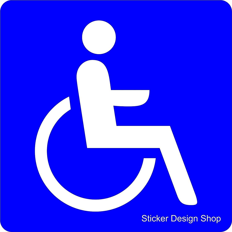 2er Set Rollstuhl Rollstuhlfahrer Behinderten Aufkleber Vinyl ...
