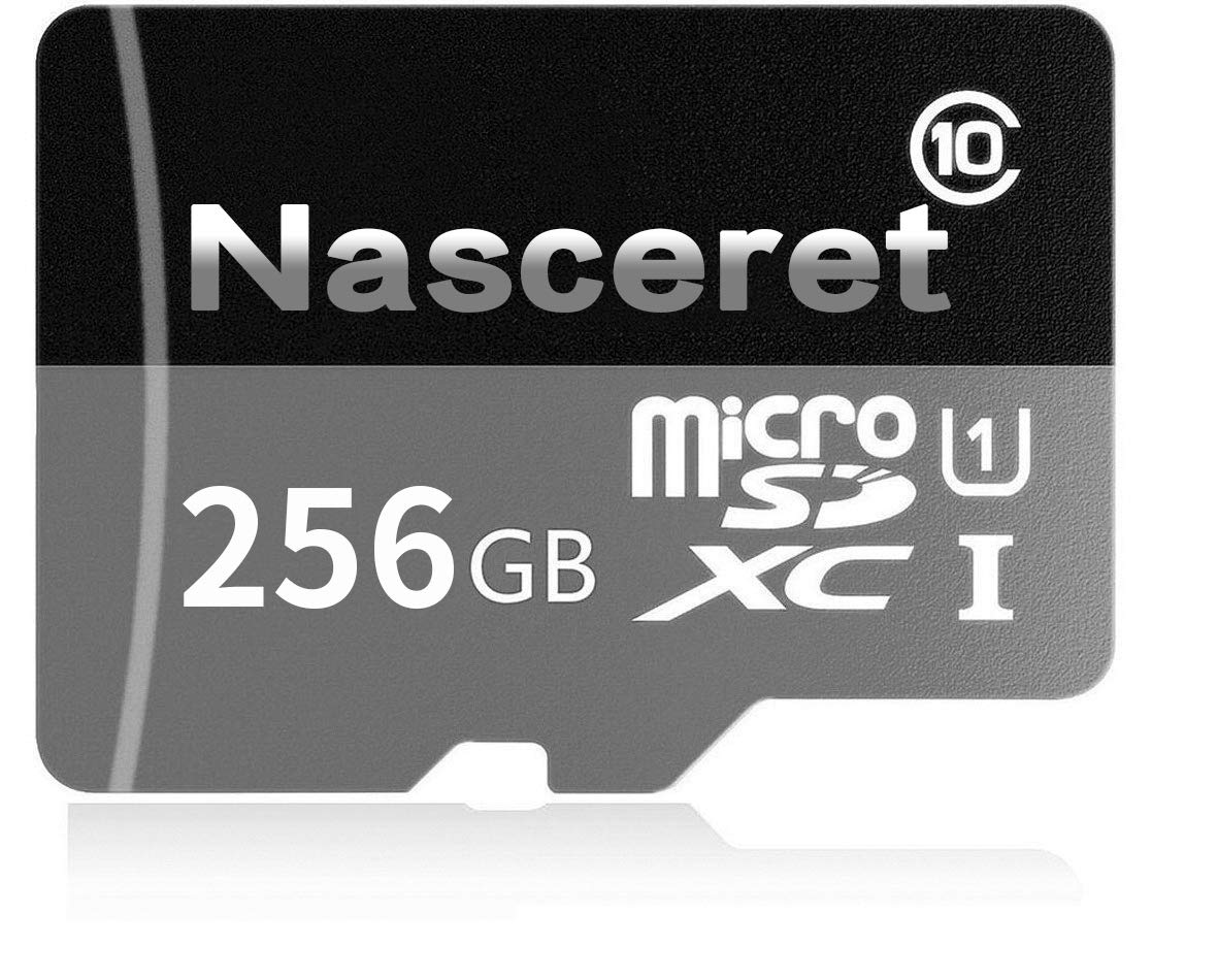 Nasceret Micro SD SDXC Card 256GB High Speed Class 10 Memory Card Micro SD Adapter