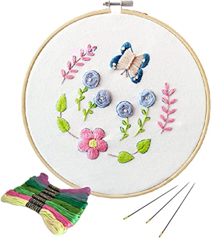 Embroidery Starter Kit Cross Stitch Needlework Tool for DIY Purse Bag Making