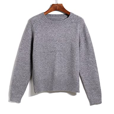 Ladies Warm Winter Cute Knit Sweater Kintted Long Sleeve Sweaters ...