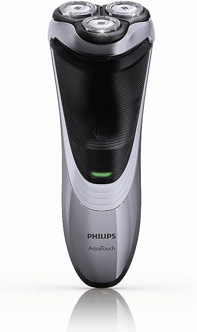 Philips AT891 - Afeitadora (Rotación, 3 piezas, Plata, Batería ...